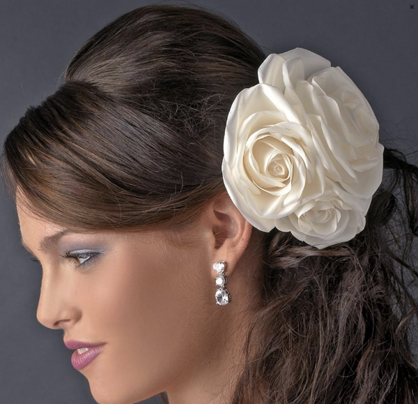 """The Eliana"" Garden Rose Cluster Clip-Combs & Clips-Wedding Factory-Sweet Heart Details"