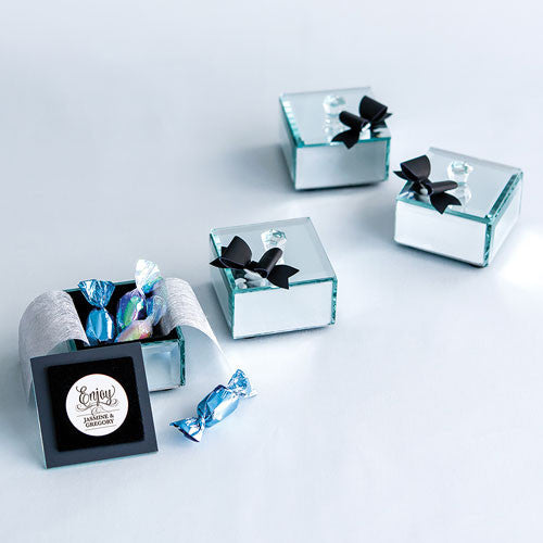 Small Classic Black Paper Bows (Pack of 12)