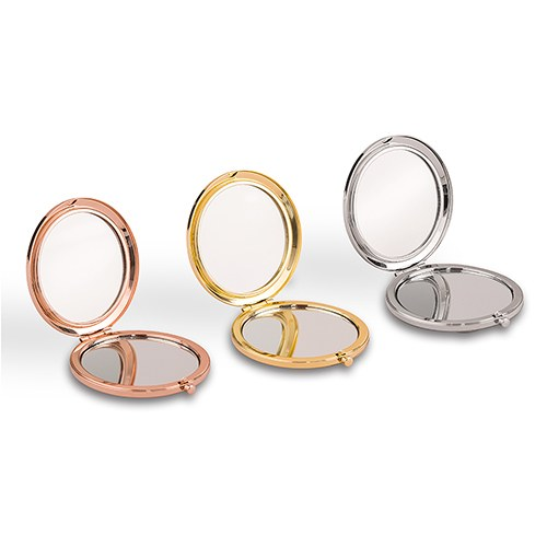 Faux Leather Compact Mirrors (6) - XOXO
