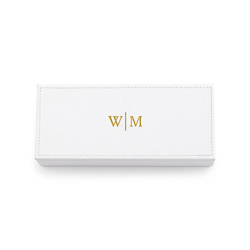Vegan Leather Jewelry Box - Personalized Line Monogram