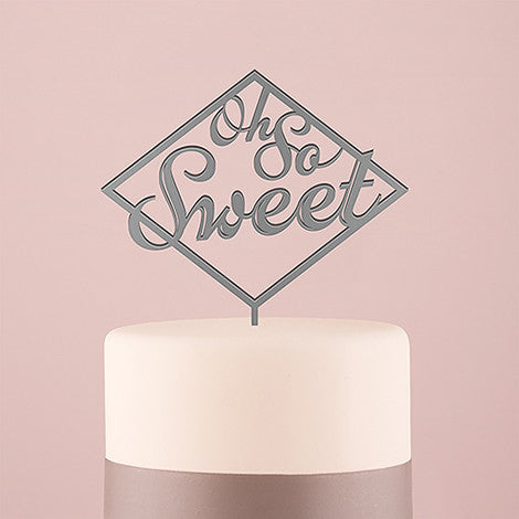 Oh So Sweet Cake Topper - Metallic Silver