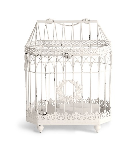 Iron Bird Cage - Conservatory Style - Sweet Heart Details