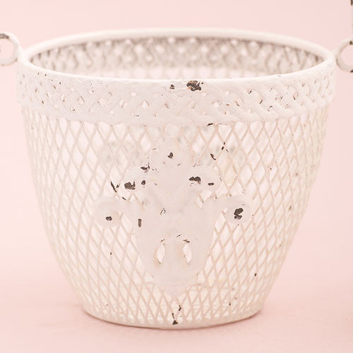 Shabby Chic Metal Flower Baskets (6) - Sweet Heart Details