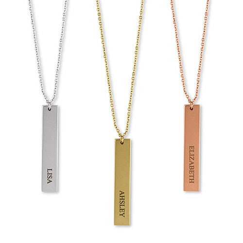 Personalized Vertical Name Necklace - Sweet Heart Details