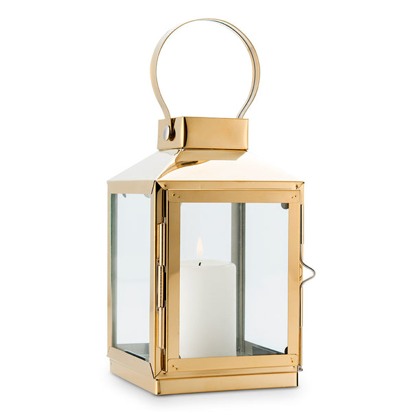 Gold Decorative Table Lantern (Small/Medium)