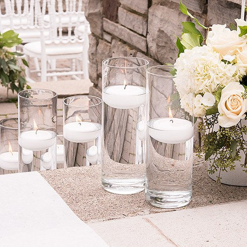 Modern Glass Cylinder Vase (set of 6)