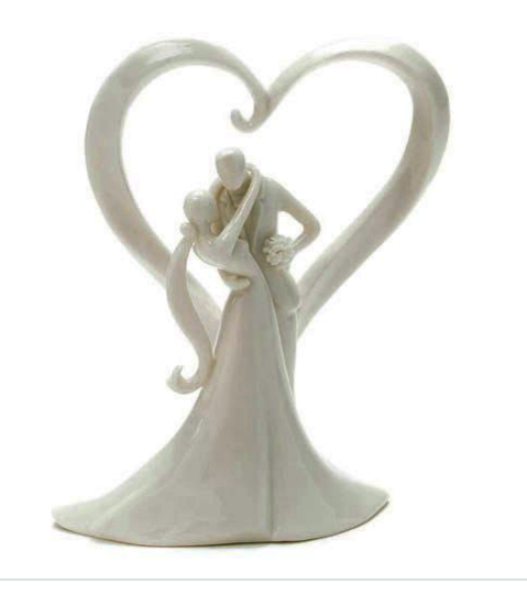 Stylish Embrace Cake Topper - Sweet Heart Details