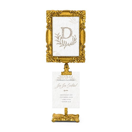 Rectangular Baroque Standing Frames (6) - Gold - Sweet Heart Details