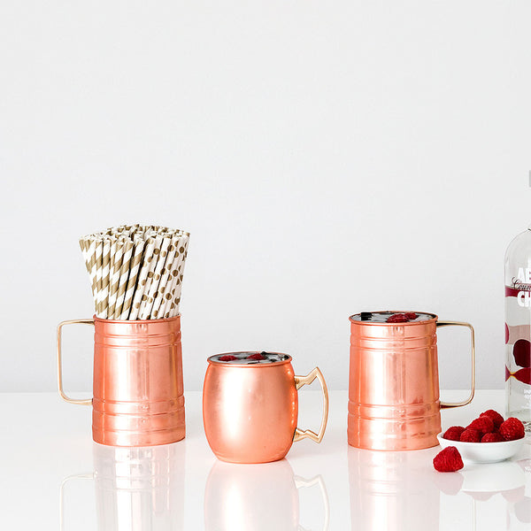 Copper Moscow Mule Beer Stein - Stacked Monogram