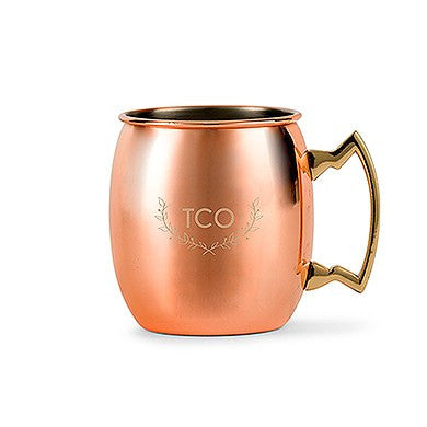 Copper Moscow Mule Mug - Woodland Monogram