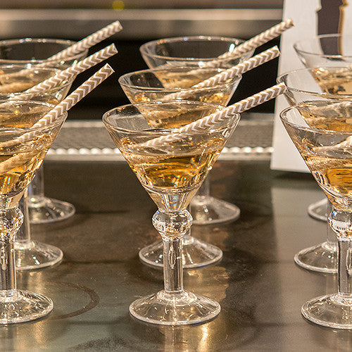 Mini Martini Glasses (Sets of 6)-Table Top Items-Wedding Star-Sweet Heart Details