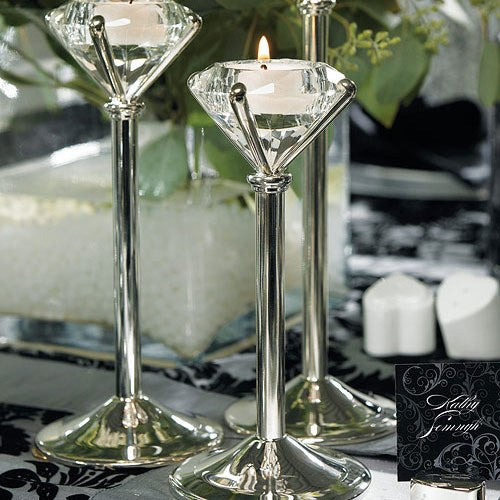 Diamond Shaped Tealight Holders (sets of 3) - Sweet Heart Details
