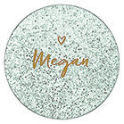 Personalized Compact Mirrors (6) - Sweet Heart Print - Sweet Heart Details