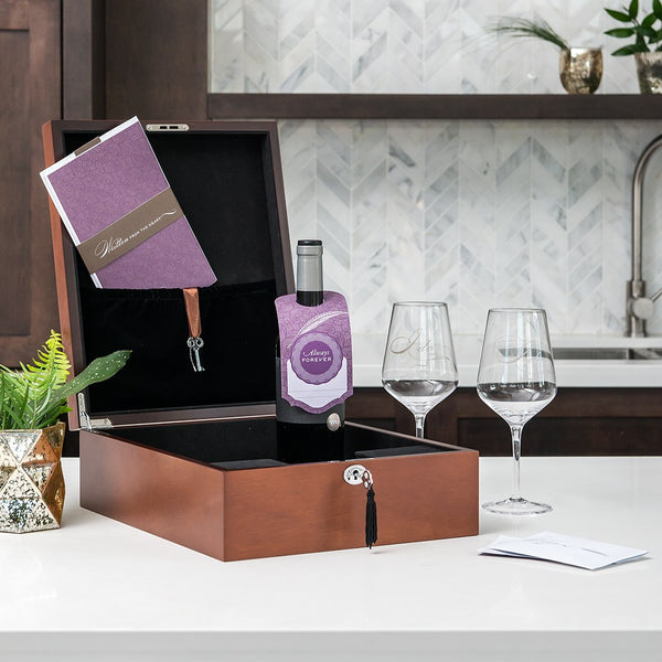 Love Letter Wedding Ceremony Vino Box Set (free personalization) - Sweet Heart Details