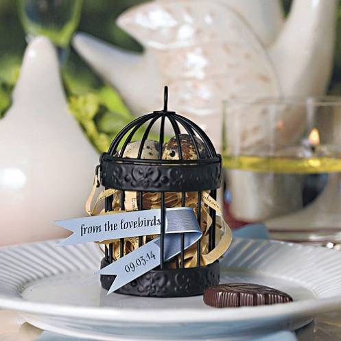 Miniature Classic Round Decorative Birdcages - Sweet Heart Details