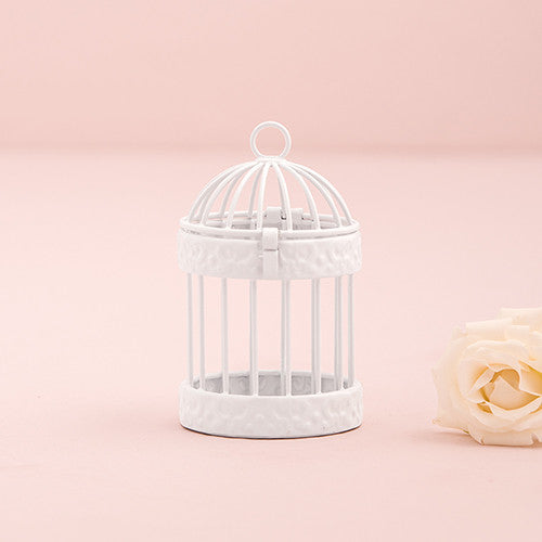 Miniature Classic Round Decorative Birdcages (Black or White) (Set of 4)