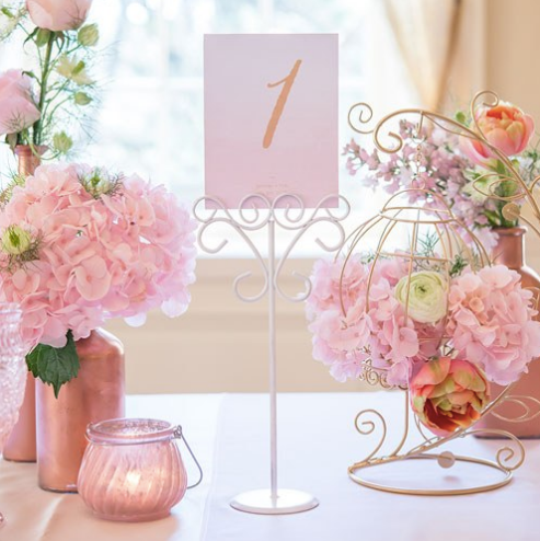 Ornamental Wire Table Number Holders (24, 48, 72)-Table Numbers-Wedding Star-Sweet Heart Details