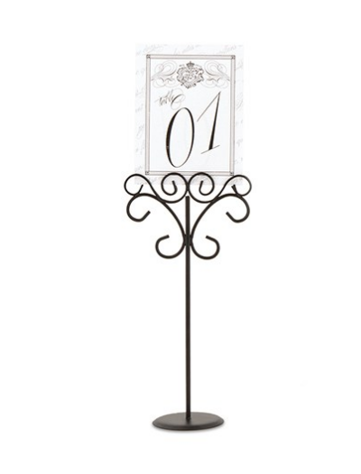 Ornamental Wire Table Number Holders - Sweet Heart Details