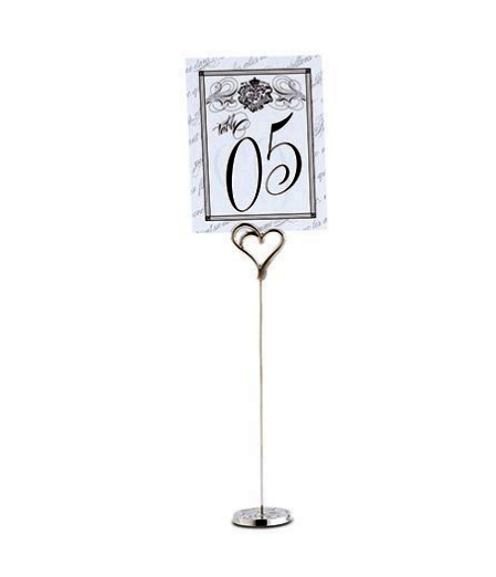 Double Heart Table Number Holder (24)-Table Numbers-Wedding Star-Sweet Heart Details