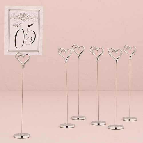 Double Heart Table Number Holder (Set of 6)