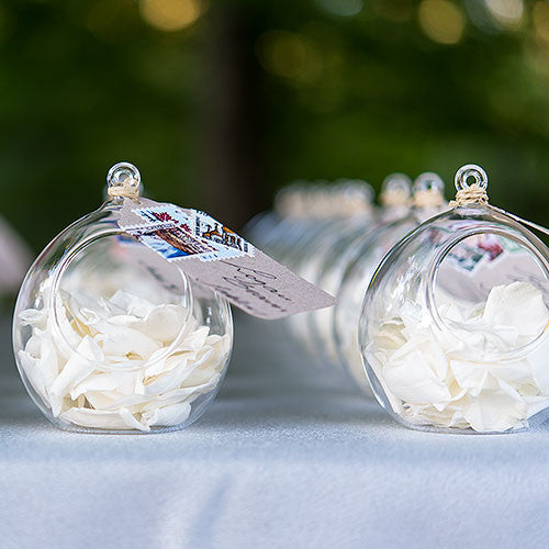 Blown Glass Globes (24)-Wedding Decorations-Wedding Star-9244-Sweet Heart Details