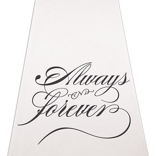 """Always & Forever"" Wedding Aisle Runner - Sweet Heart Details"