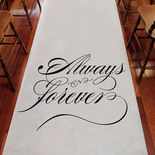 """Always & Forever"" Wedding Aisle Runner-Ceremony-Wedding Star-9300-Sweet Heart Details"