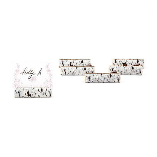Faux Birch Log Card Holders (72)-Table Numbers-Wedding Star-9387-Sweet Heart Details