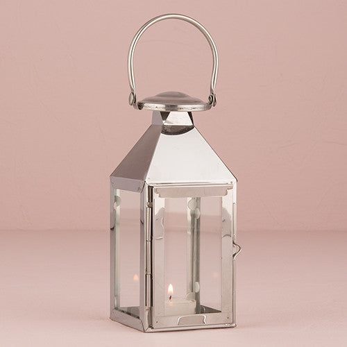 Stainless Steel Lantern With Glass Panels