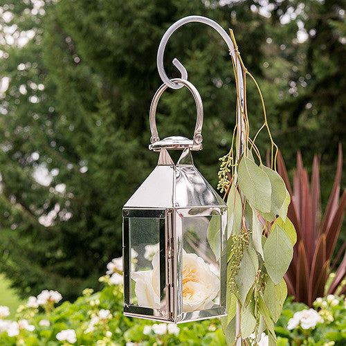 Stainless Steel Lantern With Glass Panels (6) - Sweet Heart Details