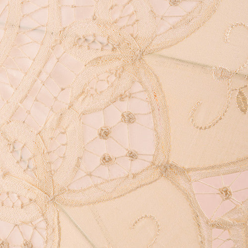 Antiqued Battenburg Lace Parasol (Small, Large) (Ivory, White, Blush)