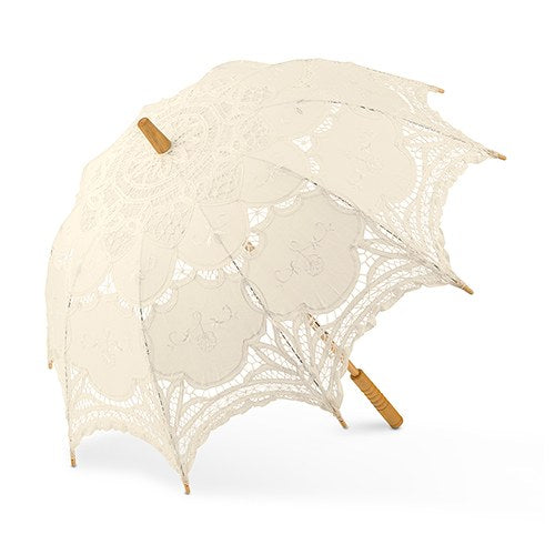 Antiqued Battenburg Lace Parasols (3) - Sweet Heart Details