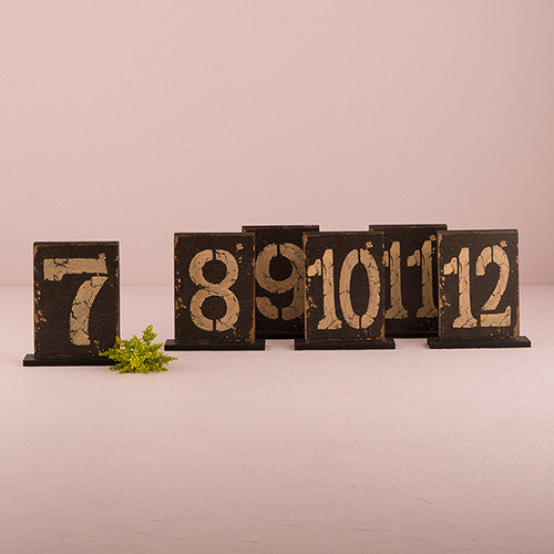 Rustic Self-Standing Table Numbers / Holders (1-12, 1-18)-Table Numbers-Wedding Star-Sweet Heart Details