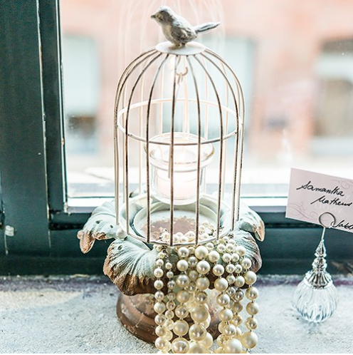 Mini Metal Birdcage With Tealight Holder (Set of 6)-Wedding Decorations-Wedding Star-9580-08 (3)-Sweet Heart Details