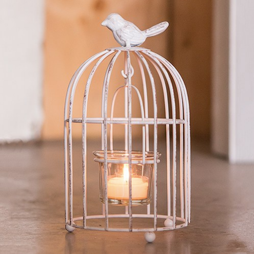Mini Metal Birdcage With Tealight Holders - Sweet Heart Details