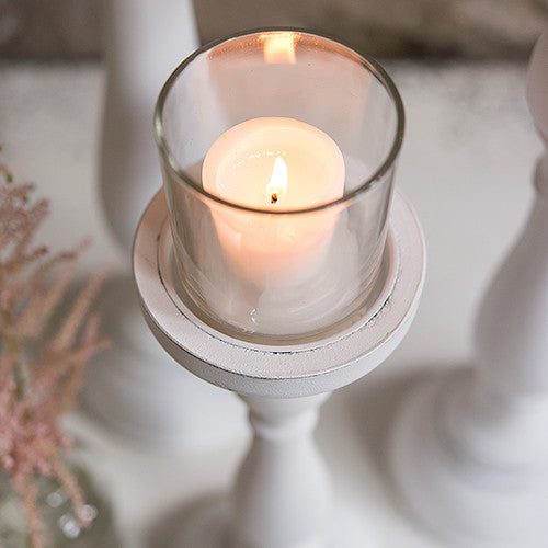 Shabby Chic Spindle Candle Holder Set of 3 - Sweet Heart Details