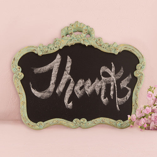 Blackboard In Ornate Vintage Frame (Aged White or Green)