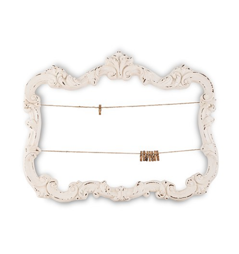 Open Ornate Vintage Inspired Frame (Aged Green or White)-Wedding Decorations-Wedding Star-Sweet Heart Details