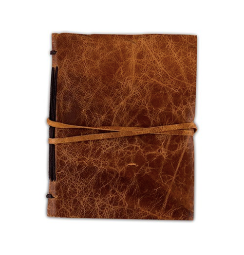Leather Bound Journal Rustic Style Guest Book - Sweet Heart Details
