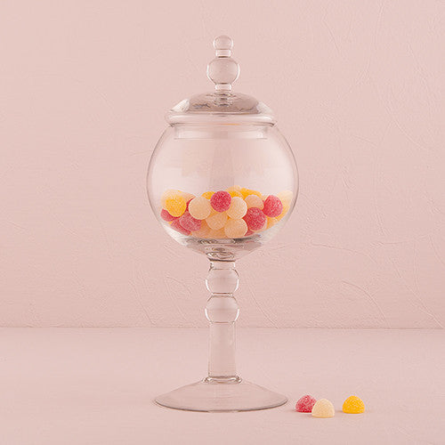 Decorative Pedestaled Apothecary Jar with Globe Shaped Bowl