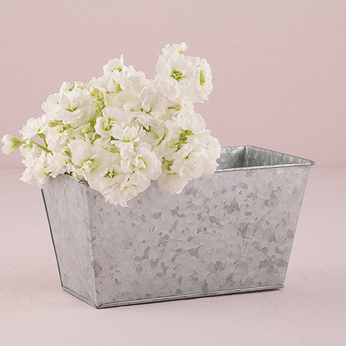 Galvanized Tin Rectangular Planters-Wedding Decorations-Wedding Star-Sweet Heart Details