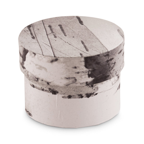 Rustic Birch Circular Favor Box (Set of 6)