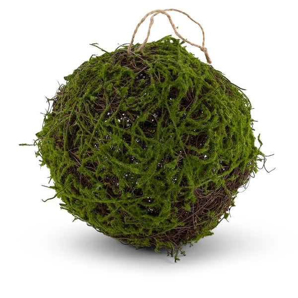 Faux Moss And Wicker Pomander - Kissing Balls (12) - Sweet Heart Details