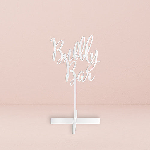 Bubbly Bar Acrylic Sign (Black or White)