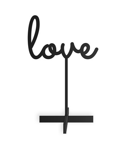 Love Acrylic Sign (Black or White)