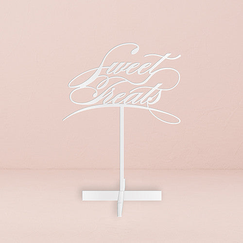 Sweet Treats Acrylic Candy Bar Sign (White)