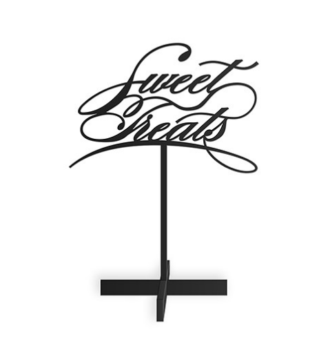 Sweet Treats Acrylic Candy Bar Signs - Sweet Heart Details
