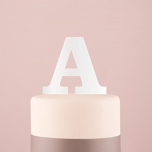 Serif Monogram Acrylic Cake Topper (Black or White)