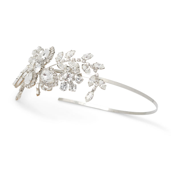 """The Abigail"" Crystal Detail Side Headband - Sweet Heart Details"