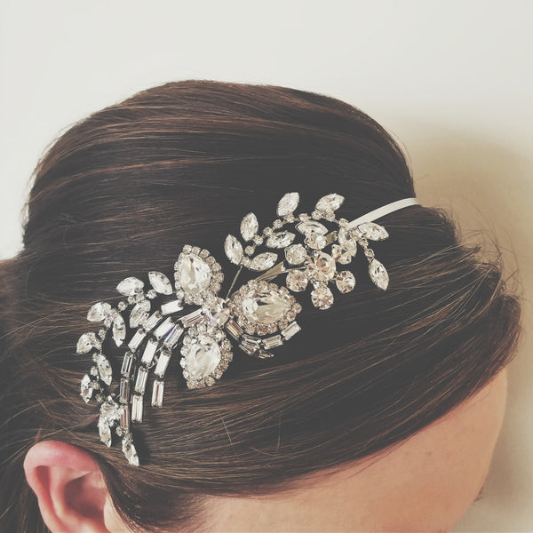 """The Abigail"" Side Detail Crystal Headband"